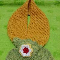 Детские шарфы спицами – работы Майи Ким
