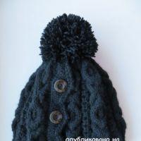 Вязаная шапочка – работа Нины Колотило