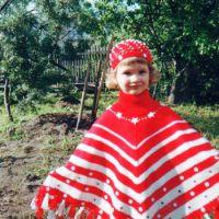 Пончо с жаккардовыми узорами – работа Марии Казановой