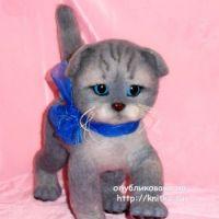 Котенок в смешанной технике – работа Ирины
