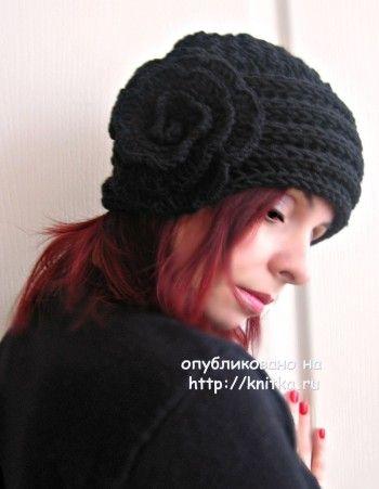 Работы Татьяны: вязаные спицами шапочки и перчатки. Вязание спицами.
