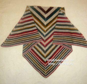 Схемы вязания полосатой шали спицами