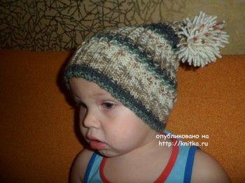 Шапочка весенняя – мастер-класс от Ольги. Вязание спицами.