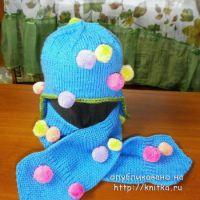 Шапочка и шарф спицами – работы Наталии Гуторовой