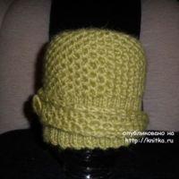 Зимняя шапочка спицами – работа Ольги