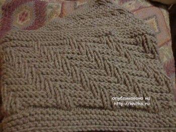 Мужские снуды спицами – работы Ольги. Вязание спицами.