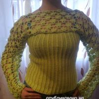 Вязаный свитер – работа Ирины Стильник