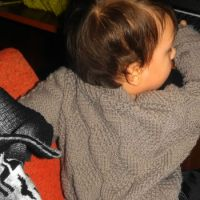 Вязаный свитер для мальчика – работа Оксаны