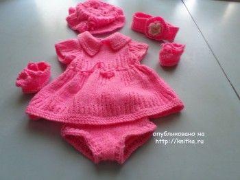 Вязание для малышей – работы Анны Чикуновой. Вязание спицами.