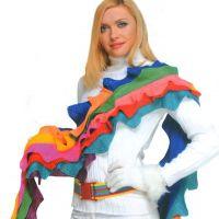 Радужный шарф спицами