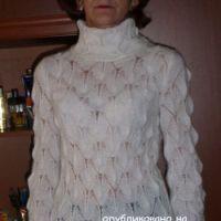 Ажурный свитер – работа Марины