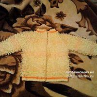 Детская кофта спицами – работа Татьяны Барышниковой