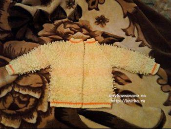 Детская кофта спицами – работа Татьяны Барышниковой. Вязание спицами.