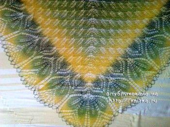 Шаль Харуни – работа Натальи. Вязание спицами.