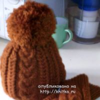 Варежки, шапка,  и кофта спицами – работы Натальи