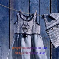 Вязаная кокетка для платья