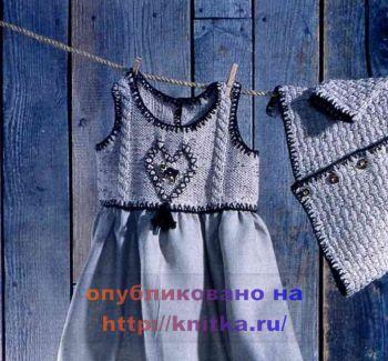 Кокетка для платья вязание спицами