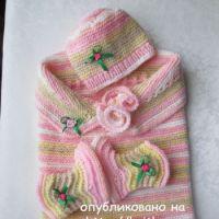 Кокон, пинетки и шапочка для малыша – работы Марии Гнедько