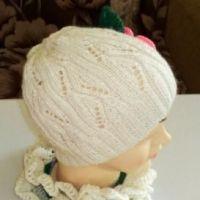 Вязаный комплект: шапочка и шарф