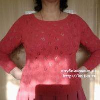 Летний пуловер спицами – работа Primma