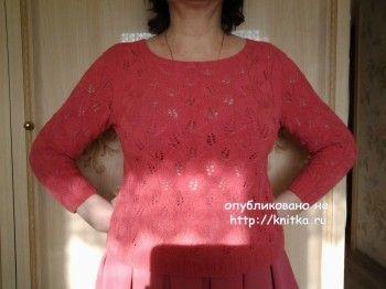 Летний пуловер спицами – работа Primma. Вязание спицами.