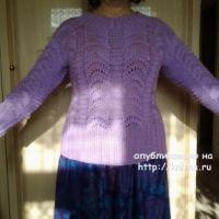 Женский пуловер, связанный спицами – работа Primma