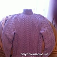 Мужской свитер спицами – работа Любови Жучковой