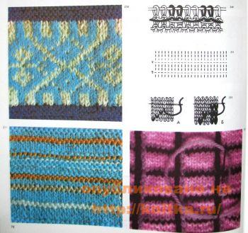 Разноцветная вязка. Вязание спицами.