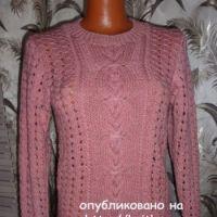 Вязаный пуловер – работа Марины