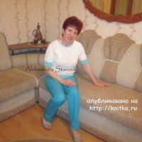Вязаный женский джемпер – работа Александры Старовой