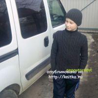Вязаный свитер и шапочка для мальчика – работы Ирины