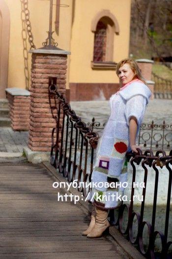Кардиган спицами Нежность – работа Оксаны. Вязание спицами.