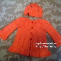 Комплект для малыша спицами – работа Елены Антиповой