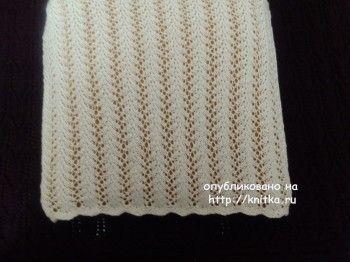Чехол для подушки спицами – работа Оксаны Усмановой. Вязание спицами.