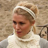 Теплый шарфик, связанный на спицах