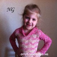 Детский пуловер спицами – работа NatalyaG.
