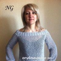 Женский джемпер спицами – работа NatalyaG.