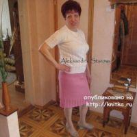 Кофта и юбка спицами – работы Александры Старовой