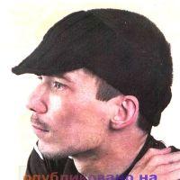 Мужская повязка на голову с козырьком