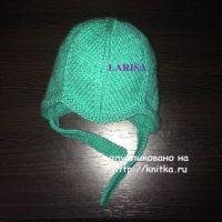 Вязаная шапочка и пинетки – работы Ларисы Величко