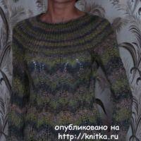 Джемпер спицами – работа Марины Ефименко