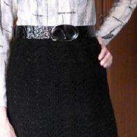 Вязаная спицами юбка – работа Марины Ефименко