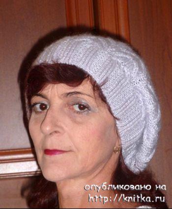 Вязаный спицами берет – работа Марины Ефименко. Вязание спицами.