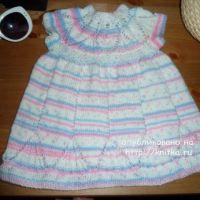 Вязаное платье для девочки – работа Светланы