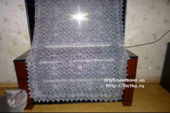 Вязаные спицами палантины – работы Нины Ивановны. Вязание спицами.