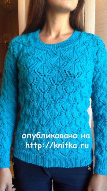 Вязаная спицами кофточка – работа Ярославской. Вязание спицами.