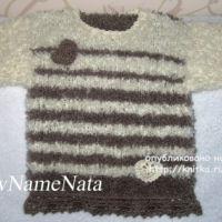 Туника для девочки спицами – работа NewNameNata