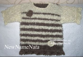 Туника для девочки спицами – работа NewNameNata. Вязание спицами.