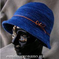 Вязание шапочки спицами