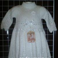 Детское платье спицами. Автор Любовь Афанасьева